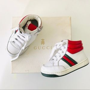 Gucci Toddler High Top Sneaker Shoes